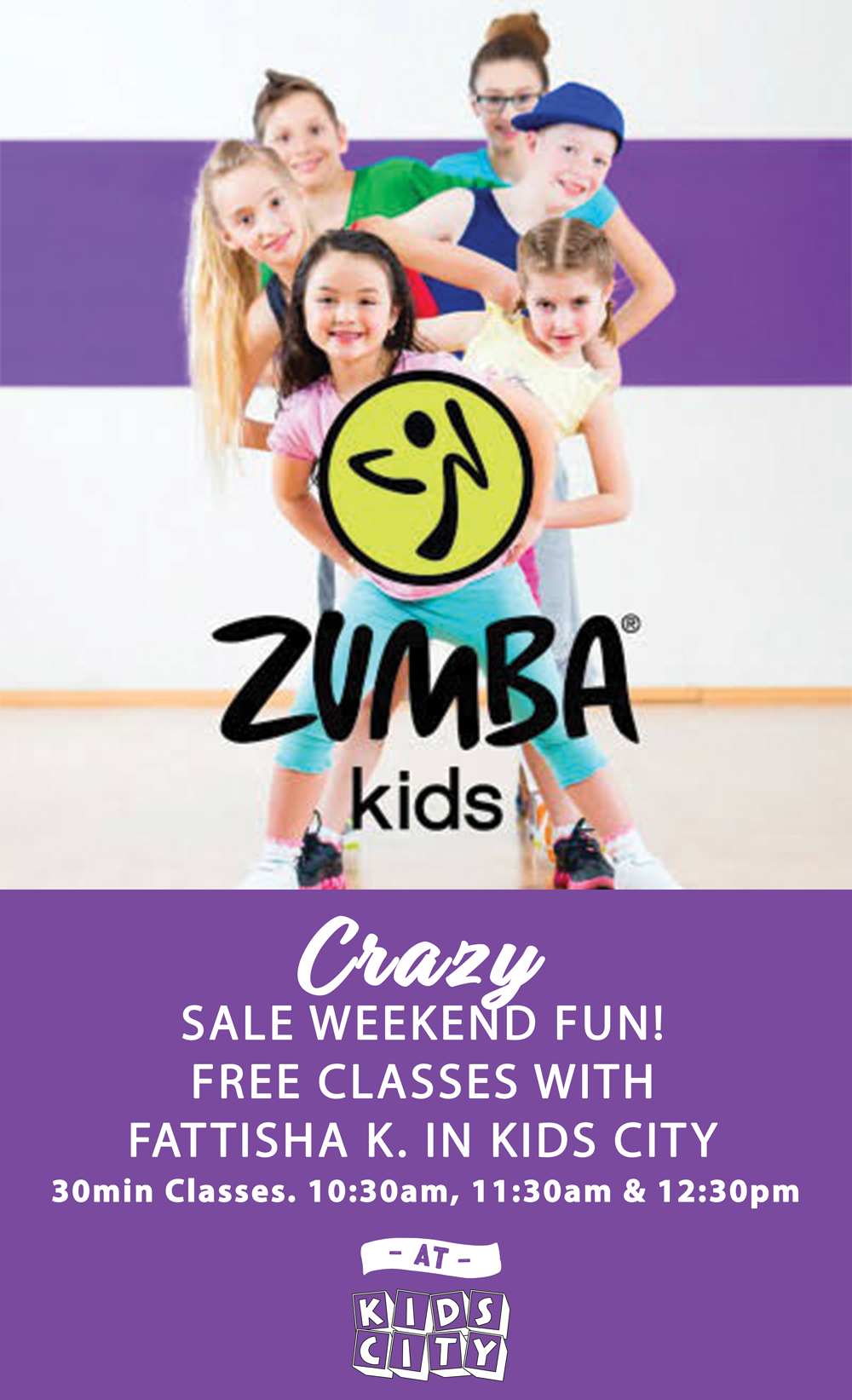 ZUMBA KIDS with Fattisha K!