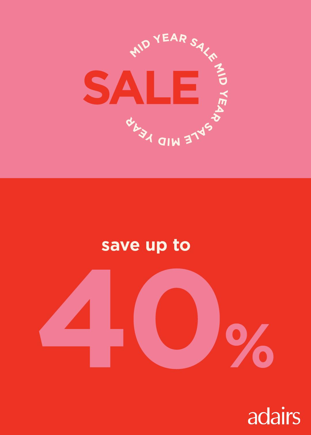 Save up 40% at Adairs Mid-Season Sale!