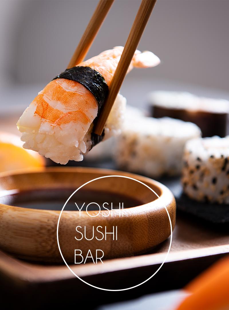 Yoshi Sushi Bar is Open