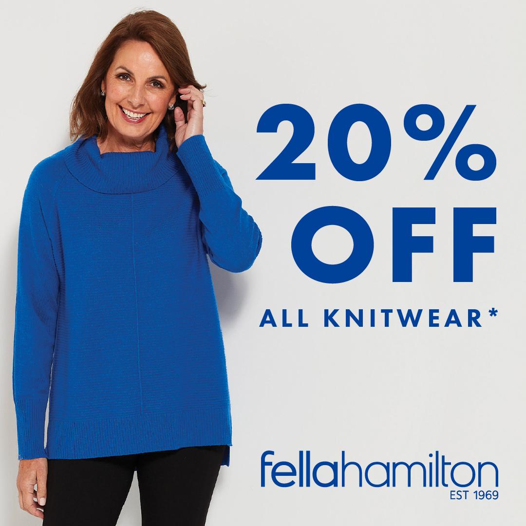 20% OFF Knitwear!